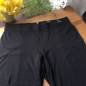 J Crew 4 reg zipper black legging pants w/seam